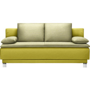SCHLAFSOFA in Textil Grün  - Grün, Design, Textil/Metall (200/85/90cm) - Joka