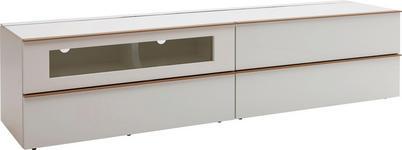 LOWBOARD lackiert Weiß - Eichefarben/Weiß, Design, Holz (227,5/54/56,5cm) - DIETER KNOLL
