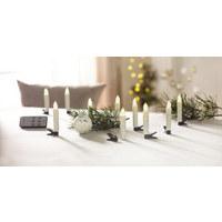 KERZE MIT LED - Transparent/Weiß, Basics, Kunststoff (1,5/10,5cm) - X-Mas
