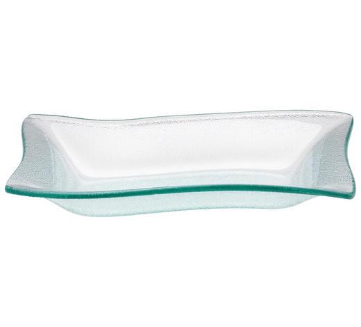 SERVIERPLATTE - Transparent, Design, Glas (25,6/4/18cm) - Homeware