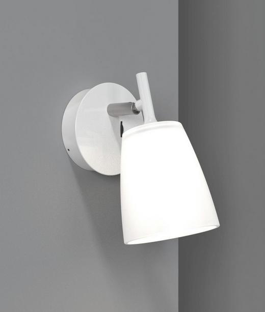 WANDLEUCHTE - Weiß, Design, Glas/Metall (11/19cm)