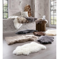 SCHAFFELL  65/45 cm  Weiß   - Weiß, Basics, Fell (65/45cm) - Ambia Home