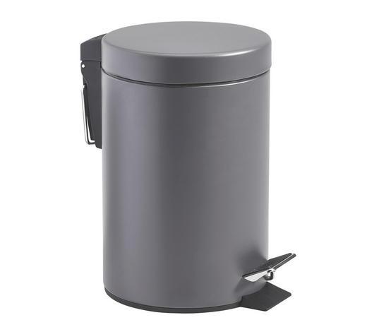 KOSMETIKEIMER 3 L - Dunkelgrau/Schwarz, Basics, Kunststoff/Metall (17/26cm) - Kela