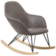 SCHAUKELSTUHL - Hellbraun/Eschefarben, Design, Holz/Textil (67/89/98cm) - Xora