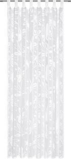 Fertigvorhang transparent - Weiß, Konventionell, Textil (140/245cm) - Esposa