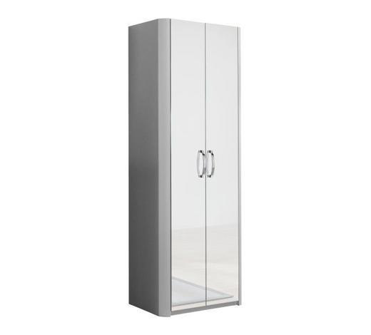 GARDEROBENSCHRANK 66/187/37,5 cm  - Chromfarben/Alufarben, Design, Glas/Holzwerkstoff (66/187/37,5cm) - Moderano