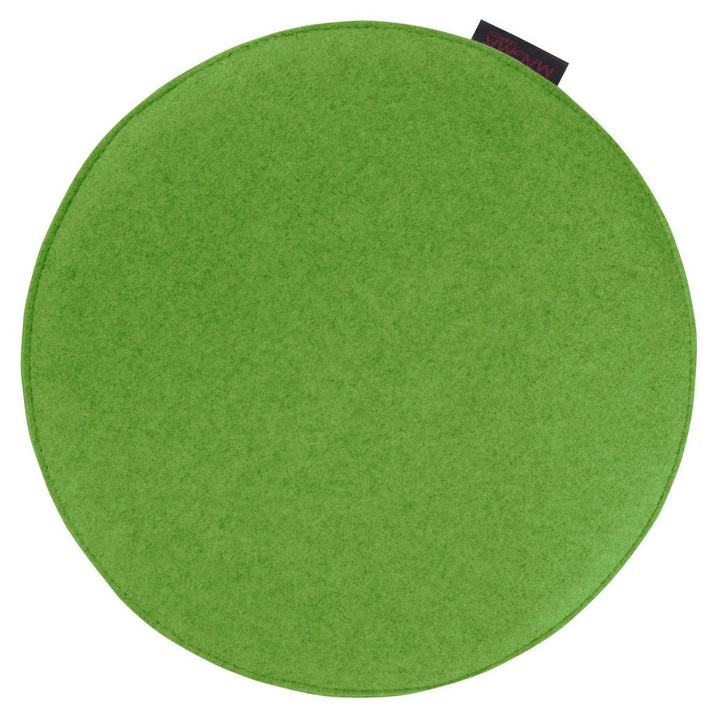 Stuhlkissen aus grünem Filz