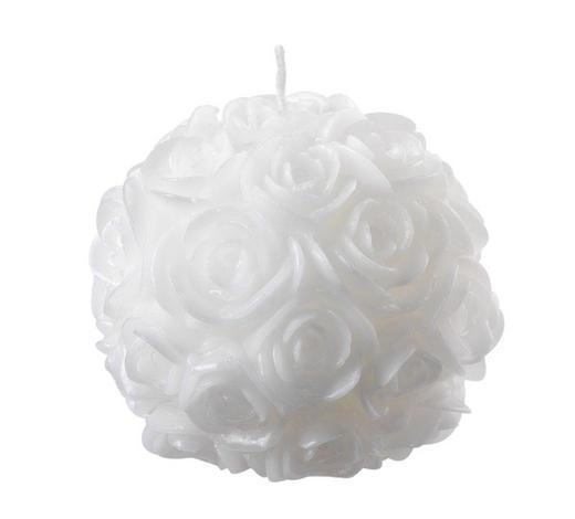 KUGELKERZE 10 cm - Weiß, Basics (10cm) - Ambia Home