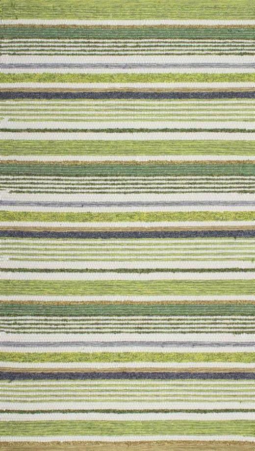 HANDWEBTEPPICH  60/110 cm  Blau, Grün - Blau/Grün, KONVENTIONELL, Textil (60/110cm) - Linea Natura