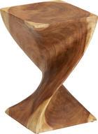 HOCKER in Holz Naturfarben - Naturfarben, Trend, Holz (30/45/30cm) - Ambia Home
