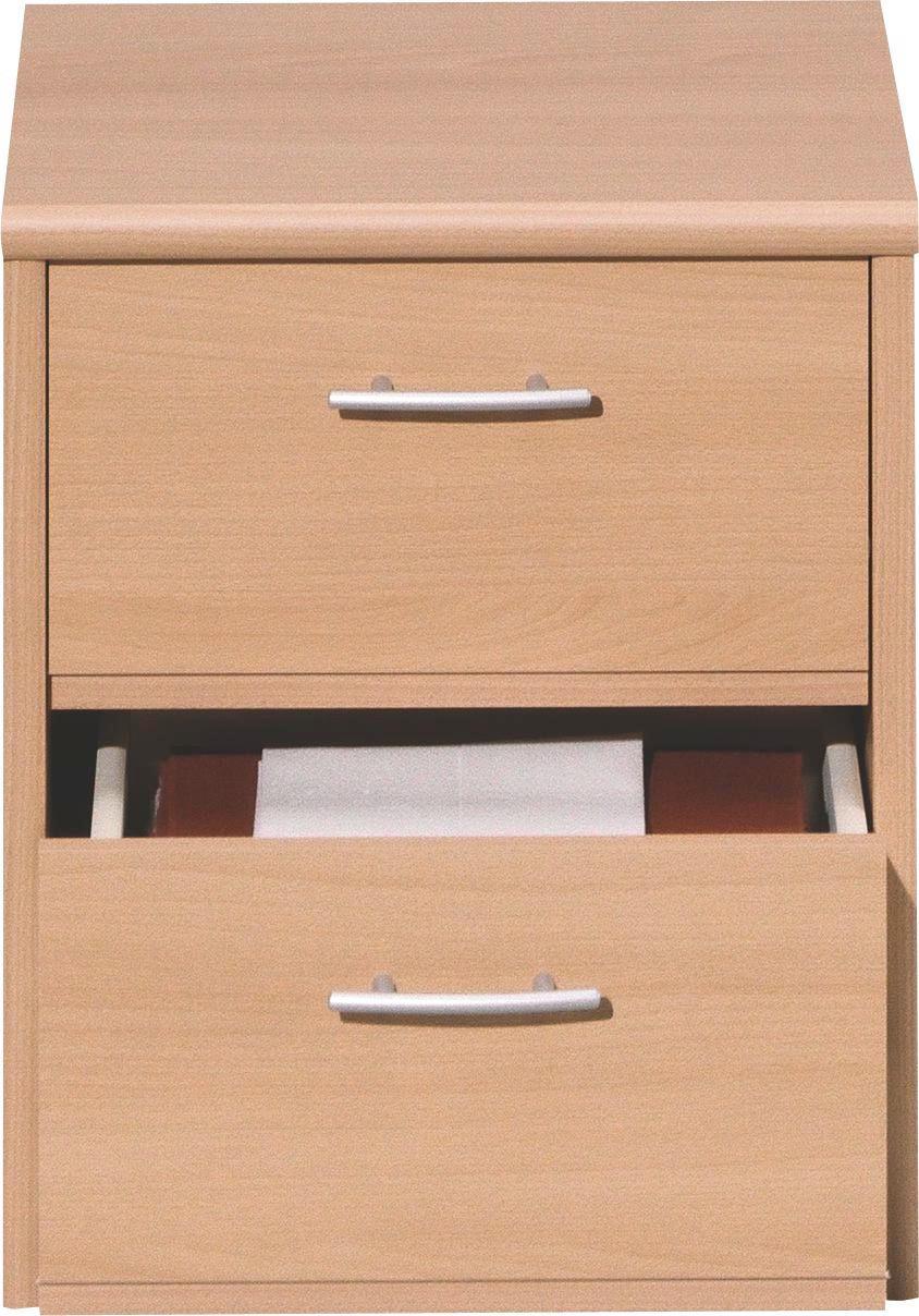 NACHTKÄSTCHEN in Buchefarben - Silberfarben/Buchefarben, KONVENTIONELL, Holzwerkstoff/Kunststoff (38/46/36cm) - CS SCHMAL