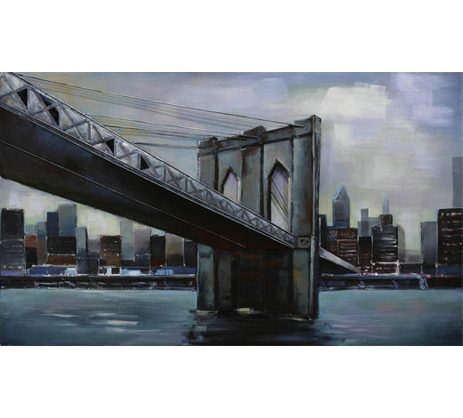 Brücken METALLBILD  - Multicolor, LIFESTYLE, Metall (120/70cm) - Monee