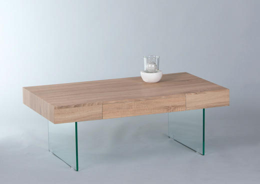 COUCHTISCH Sonoma Eiche - Sonoma Eiche, Design, Glas (110/60/42cm) - Carryhome