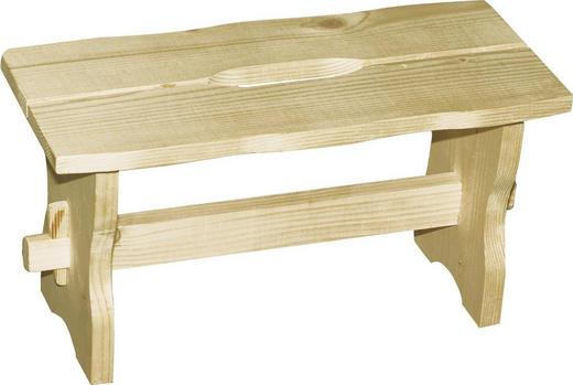 FUSSBANK Kieferfarben - Kieferfarben, Design, Holz (40/21/18cm) - Carryhome