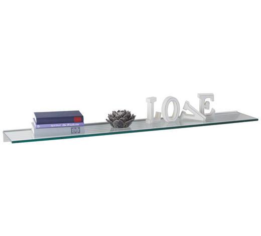 WANDBOARD in Transparent  - Transparent, Basics, Glas (120/20cm)
