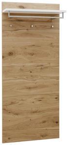 GARDEROBENPANEEL Balkeneiche furniert lackiert Eichefarben, Weiß - Eichefarben/Weiß, Design, Holz (80/183/27cm) - DIETER KNOLL
