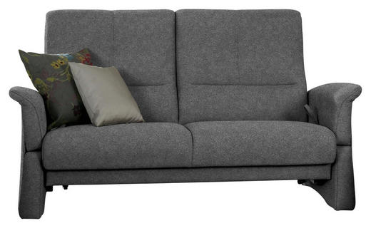 2,5-SITZER Dunkelgrau - Dunkelgrau/Schwarz, Design, Kunststoff/Textil (162/100/86cm) - Himolla