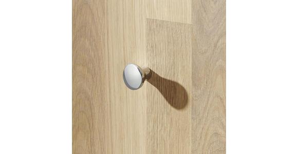 Garderobe Eiche massiv  - Natur, Glas/Holz (120/200/39cm) - Linea Natura