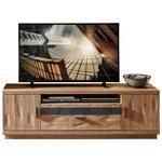 TV-ELEMENT Wildeiche massiv Eichefarben, Dunkelgrau  - Eichefarben/Dunkelgrau, KONVENTIONELL, Holz/Holzwerkstoff (180/57/45cm) - Cantus