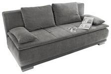SCHLAFSOFA in Textil, Holzwerkstoff Grau  - Silberfarben/Grau, MODERN, Holzwerkstoff/Kunststoff (208/93/105cm) - Carryhome