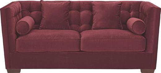 SCHLAFSOFA Mikrofaser Bordeaux - Wengefarben/Bordeaux, Design, Holz/Textil (208/84/98cm) - Carryhome
