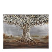 Bäume ÖLGEMÄLDE - Multicolor, LIFESTYLE, Holz/Textil (120/90/3cm) - Monee