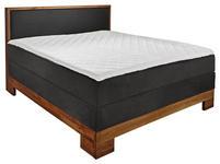 BOXSPRINGBETT 140/200 cm - Grau, Design, Holz/Textil (140/200cm) - Linea Natura