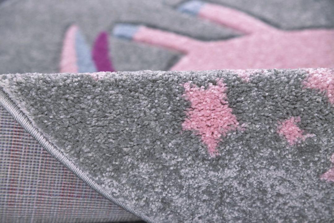 KINDERTEPPICH  Silberfarben  133/133 cm - Silberfarben, Textil (133/133cm)