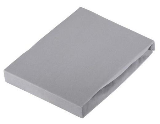 TOPPER-SPANNBETTTUCH Jersey Graphitfarben bügelfrei, für Wasserbetten geeignet - Graphitfarben, Basics, Textil (140/220cm) - Novel