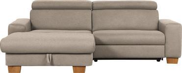 WOHNLANDSCHAFT in Textil Hellbraun  - Hellbraun/Eichefarben, Design, Textil (178/262cm) - Hom`in