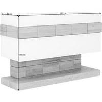 SIDEBOARD Wildeiche massiv, mehrschichtige Massivholzplatte (Tischlerplatte) geölt Weiß, Eichefarben  - Eichefarben/Weiß, Design, Glas/Holz (162/106/51cm) - Voglauer