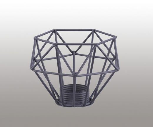 LEUCHTENSCHIRM  Grau  Metall  E14 - Grau, Trend, Metall (9,5/6,5cm)