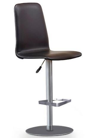 BARSTOL - svart/rostfritt stål-färgad, Design, metall/läder (45/91-117/45cm) - Skovby