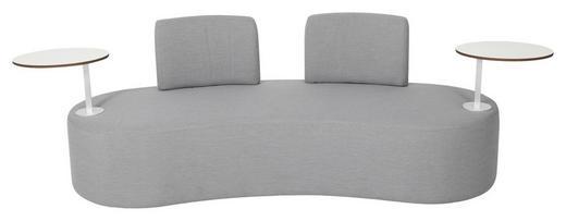 LOUNGESOFA Stahl - Grau, Design, Textil/Metall (190/70/75cm) - Ambia Garden