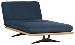 OTTOMANE Dunkelblau - Schwarz/Dunkelblau, Design, Holz/Textil (114/92/165-218cm) - Dieter Knoll