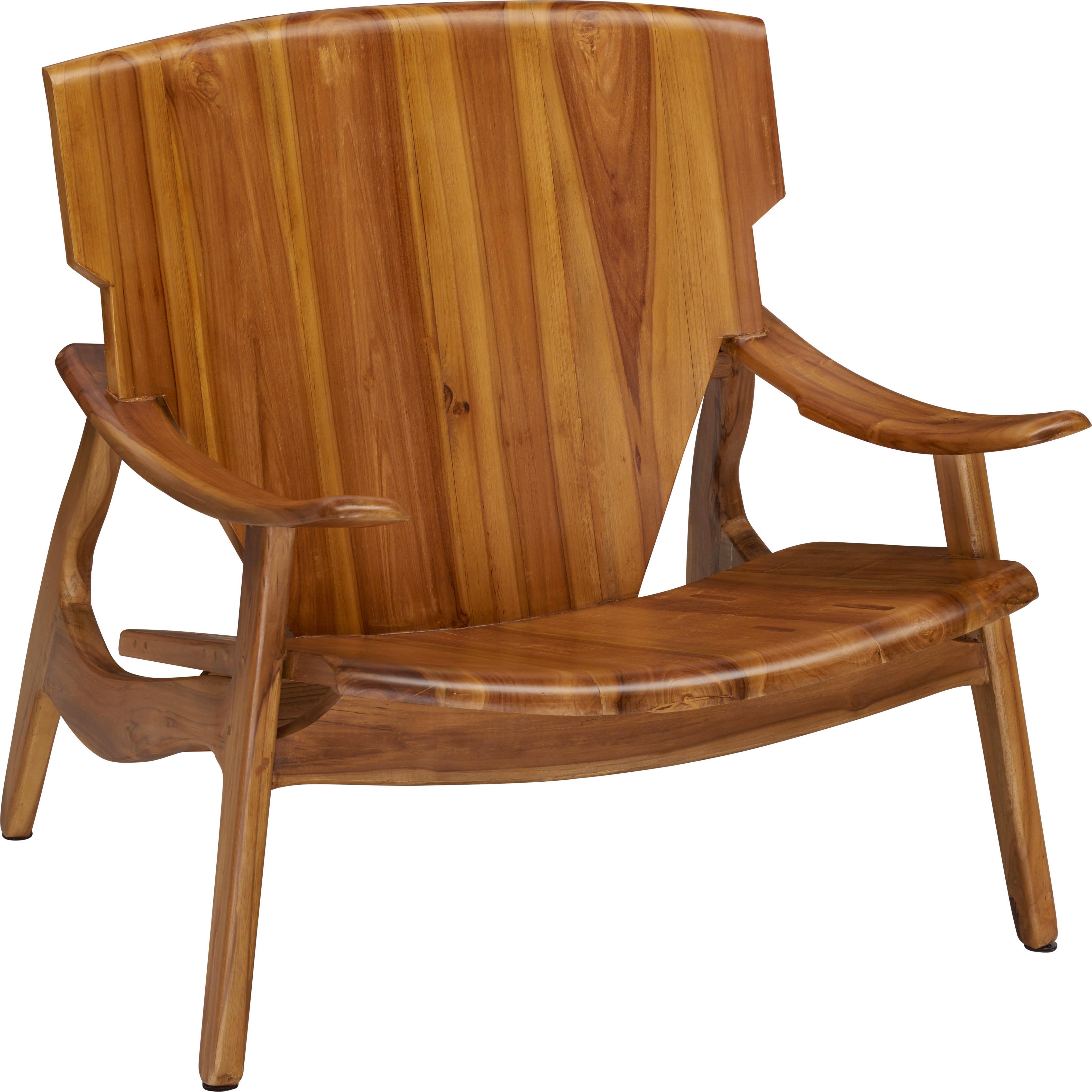 SESSEL in Teakfarben Holz - Teakfarben, Trend, Holz (72/77/71cm) - Ambia Home