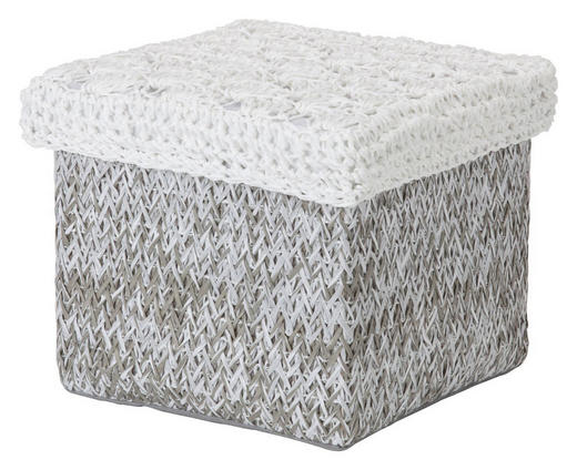 REGALKORB - Weiß/Grau, Basics, Papier (20/20/16cm) - LANDSCAPE