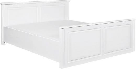 BETT Kiefer massiv 180/200 cm - Weiß, LIFESTYLE, Holz (180/200cm) - Carryhome