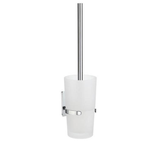 WC-BÜRSTENGARNITUR in Metall  - Chromfarben/Weiß, Basics, Glas/Kunststoff (9,6/38/11,5cm)