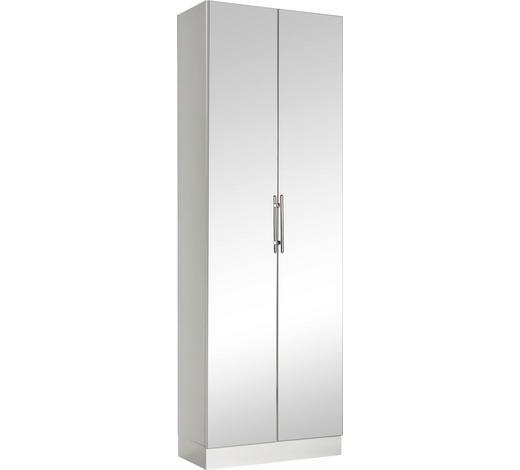 VYSOKÁ SKŘÍŇ - bílá/barvy chromu, Konvenční, kov/kompozitní dřevo (65/195,5/33cm) - Xora