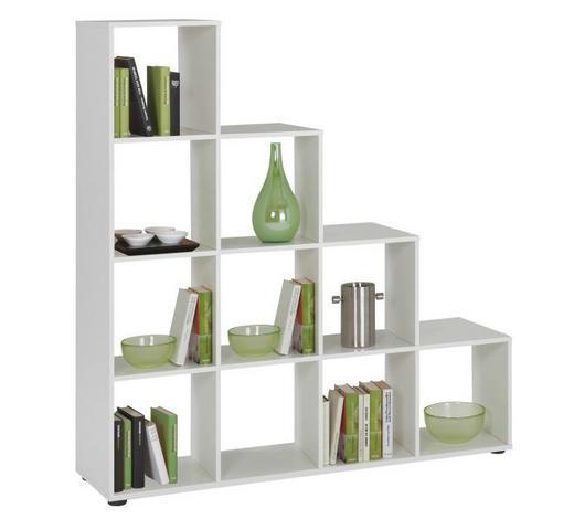 REGAL - bijela/crna, Design, drvni materijal/plastika (138,5/143,5/33cm) - Boxxx