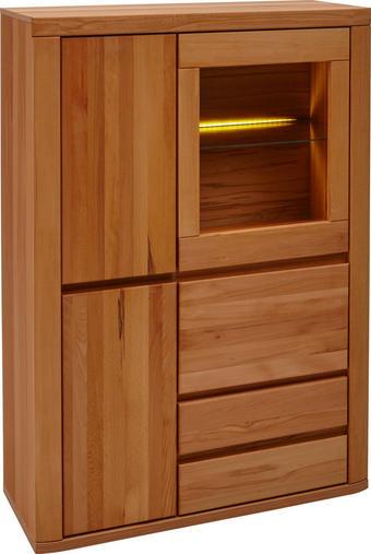 KOMODA HIGHBOARD - šedá/barvy buku, Konvenční, dřevo/dřevěný materiál (98/140/38cm) - Voleo