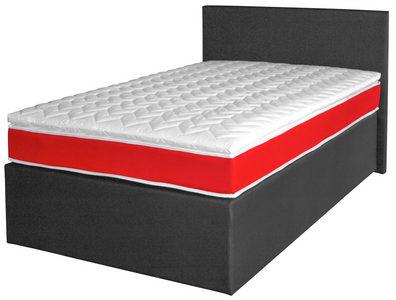 BOXSPRING KREVET - Crna, Dizajnerski, Tekstil/Pločasti materijal (200/120/62cm) - Xora