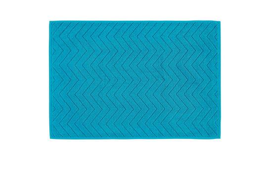 BADEMATTE  Türkis  50/70 cm - Türkis, KONVENTIONELL, Textil (50/70cm) - Boxxx