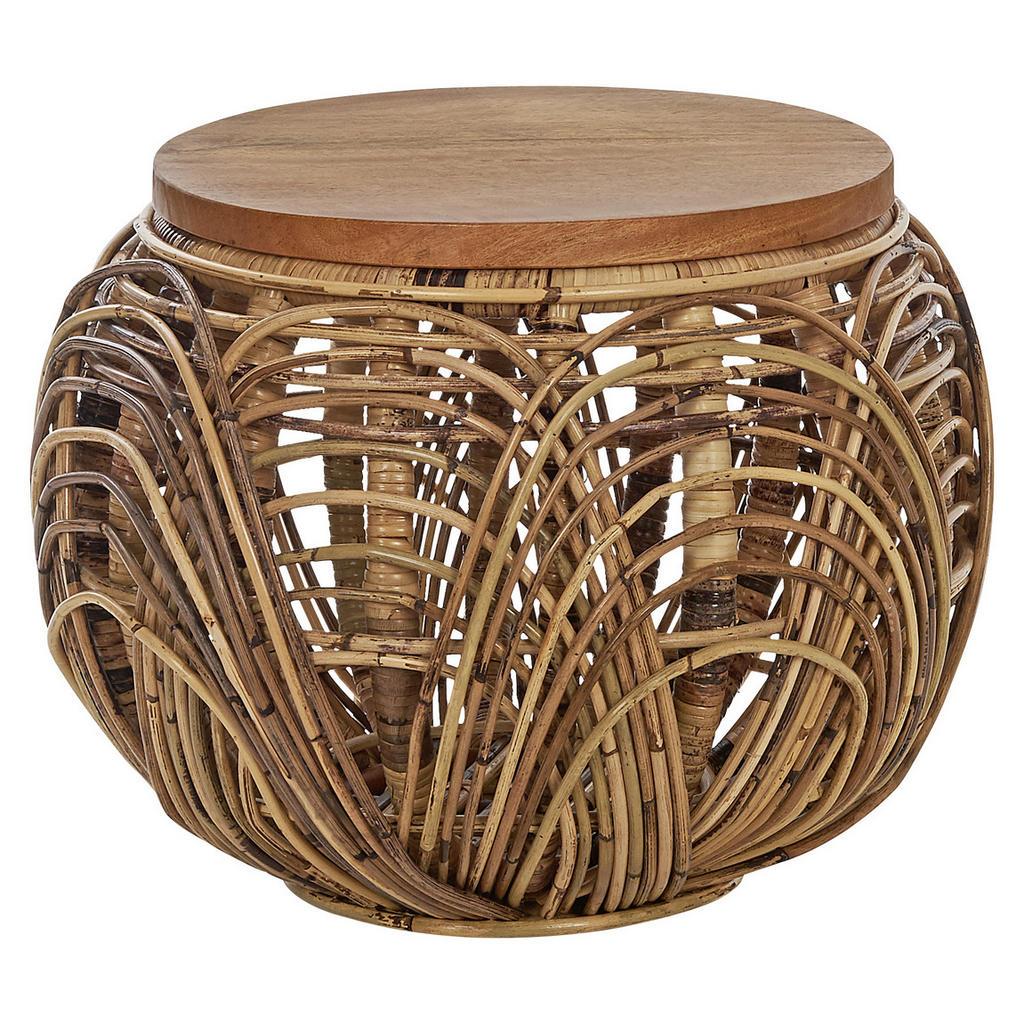 Ambia Home TABURET, drevo, kov, prírodné materiály, 42/30 cm
