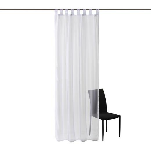 SCHLAUFENSCHAL  transparent  140/245 cm - Weiß, Basics, Textil (140/245cm) - Boxxx