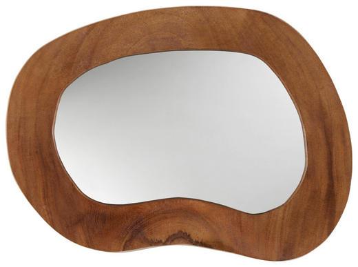 SPIEGEL - Teakfarben, Trend, Glas/Holz (30cm) - Ambia Home