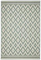 FLACHWEBETEPPICH  Blau, Creme  120/170 cm - Blau/Creme, Basics, Textil (120/170cm)