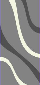 TEPIH VISOKOG FLORA - siva, Basics, tekstil (120/170cm) - BOXXX