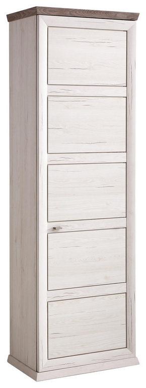 GARDEROB - vit/nickelfärgad, Lifestyle, metall/träbaserade material (64,2/196,5/38,3cm) - Hom`in